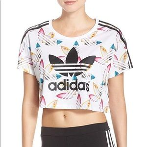 Pharrell Williams for Adidas Trefoil Logo Crop Top